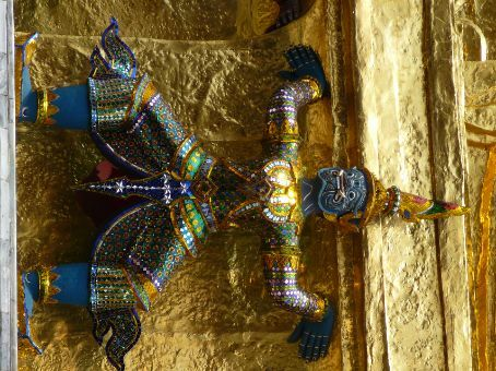 Demons adorning monuments in The Grand Palace