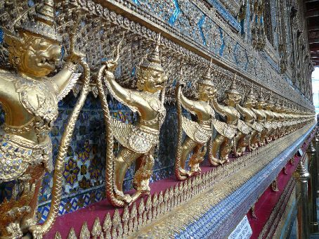 Wall motif at the Temple of the Emerald Buddha