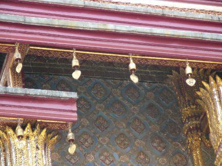 Bells adorning eaves at The Grand Palace