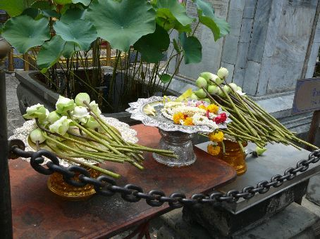Offerings for the Hermit Doctor at The Grand Palace