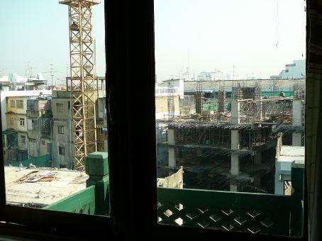 View from my hostel window - an OSH nightmare