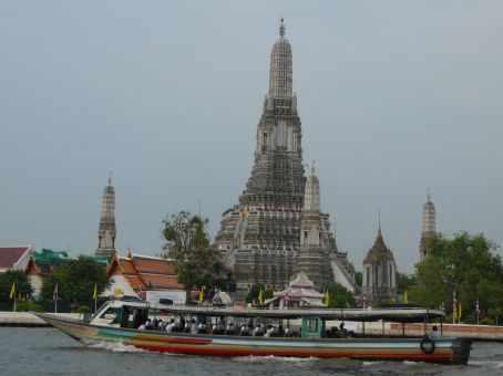Wat Arun (Temple of the Dawn), from the ferry