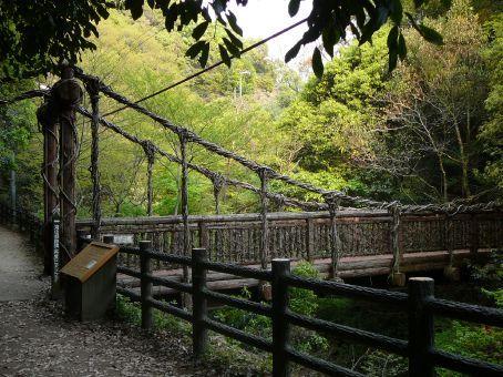 Gnarly bridge.  Shin-Kobe Ropeway walk