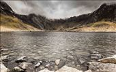 A mountain lake in the Glyders, I later disappeared into the clouds above.  : by harrisonjj, Views[109]