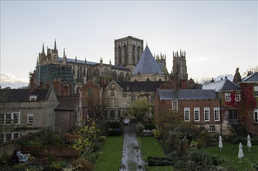 York Minster is the largest gothic cathedral in Europe. Taken from the city wall
