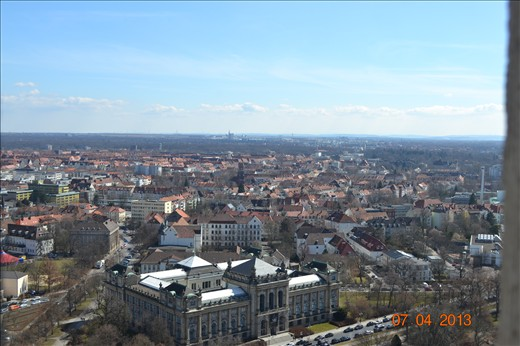 View from the top of the Town Hall