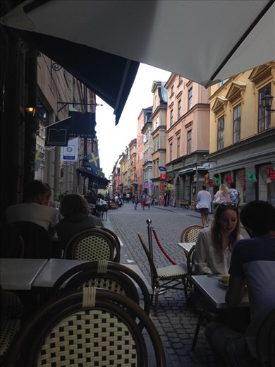 View while eating lunch in Gamla Stan