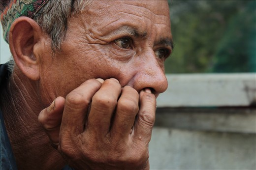 Babulal. Older worker of the farm. Wondering and still dreaming.