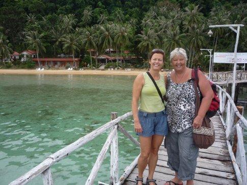 Beate and I, leaving Koh Wai, for Koh Mak