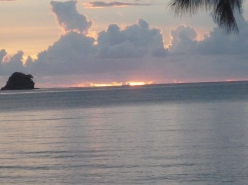 Sunset from my bungalow again...