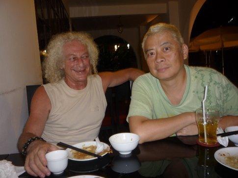 My dear friends Eric (massage) and James (tarot reading)