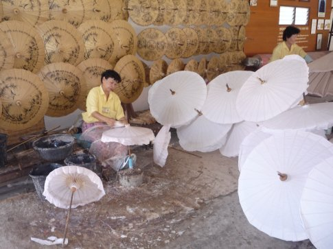 At the very interesting Umbrella factory