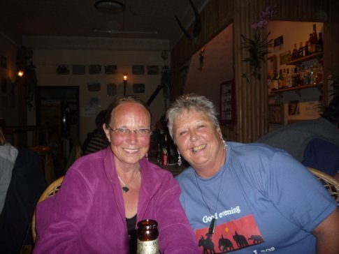 Sigrid, a gorgeous german woman travelling alone, we invited to join us for dinner. Such a good night..