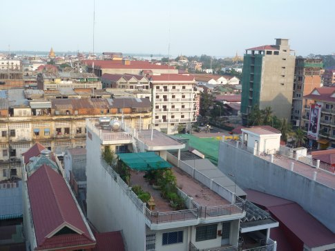 Street view from hotel rooftop