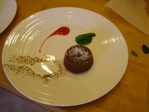 ...and cocoa powder outline of a spoon