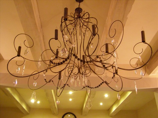 The dining room candelabra