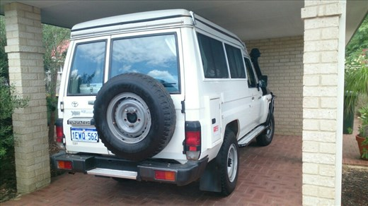 The Landcruiser just fits under the carport :)