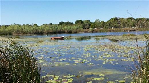 Lake Kununurra in der Mittagszeit