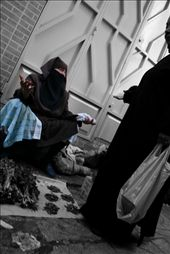 Two women aruguing (over prices I guess) on the streets of Tangier.: by heidinomads, Views[143]