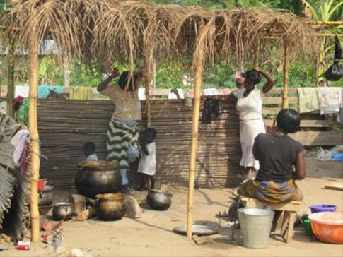 Outdoor kitchen - Last days at the orphanage - Ghana ...
