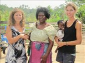 Me shaking hands with Madame, and Kerstin holding Pamela: by helen_in_africa, Views[204]