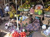 Sumptuous fruit market at Ouaga - spot the two sleeping ladies: by helen_in_africa, Views[451]