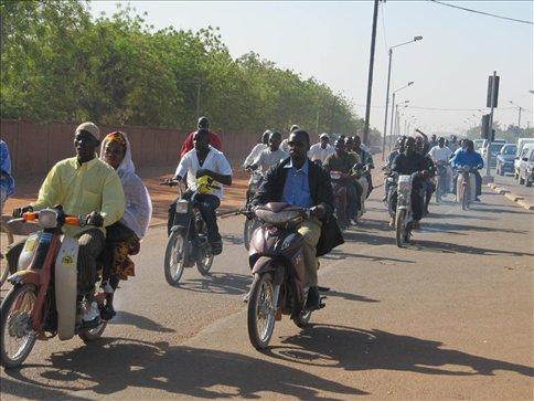Anyone who's anyone has a motorbike in Ouaga
