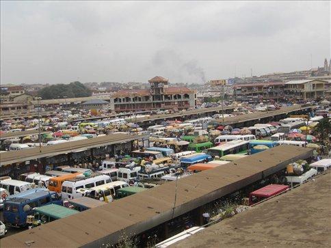 Tro tro station at Kumasi
