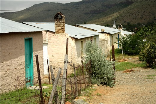 Humble dwellings and dusty streets in the village of Nieu-Bethesda in the heart of the Great Karoo