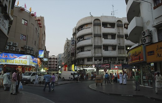 Streets come alive in the cool of the evening breeze in Deira