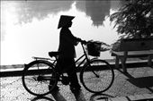 An early silhouette by the lake in Hanoi: by hernanmalano, Views[605]