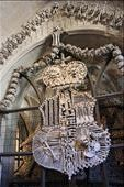 The bone church.. When the plague hit kutna Hora and the cemetery got too full... they simply dug up the bones and later on  some genius made some decorations out of it to fill a chapel.. results are as photographed. .: by hethoandstokesyseuropeanadventure, Views[64]