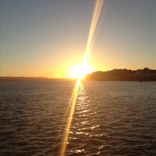 Beautiful sunset over Auckland