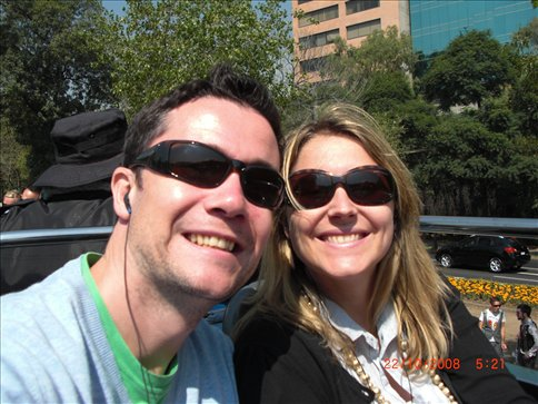 On the Mexico City bus tour
