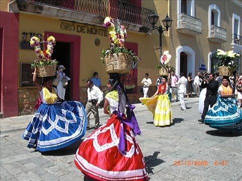 Wedding procession in Oaxaca