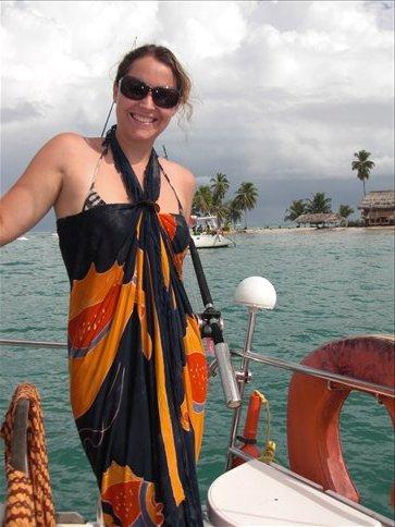 Nicola on boat
