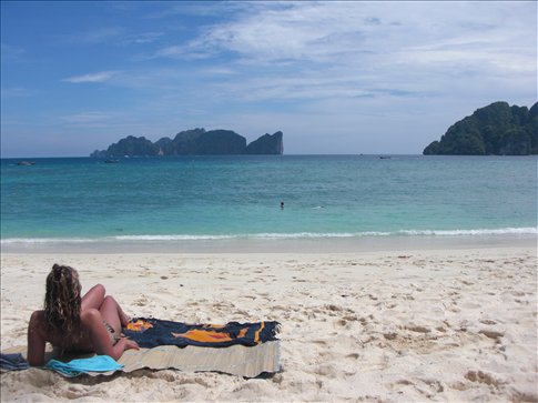 Nicola On Beach