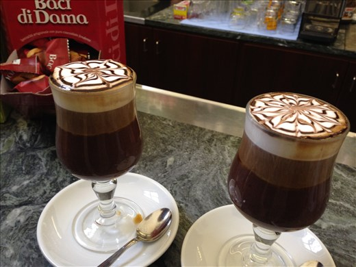 Bicerin: hot chocolate, espresso, and cream