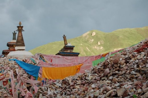 The Mani Wall in Yushu has over 2 billion stones with Buddhist mantras inscribed on them