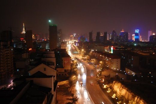 View from the hostel in Xining