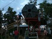 installing the new 16,000 liter water tank in Nabugoye: by hnmenk, Views[217]