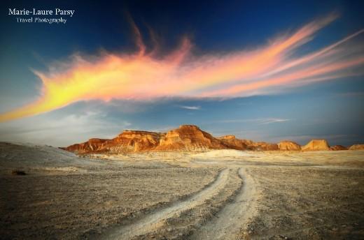 Entering the White Desert