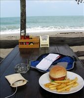 A break from writing to smash a tofu burger for Christmas lunch.: by homeless_harry, Views[785]