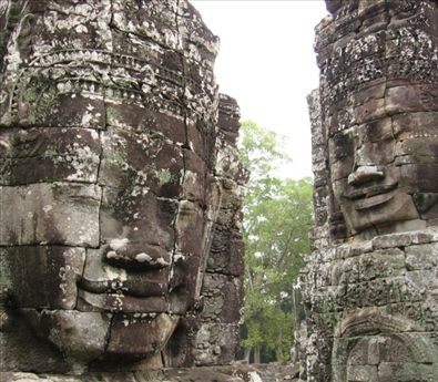 The ever present face of Avalokiteshvara at the Bayon.