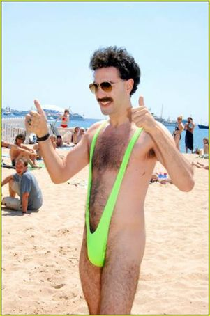 Borat has nothing on some of the outfits I saw!