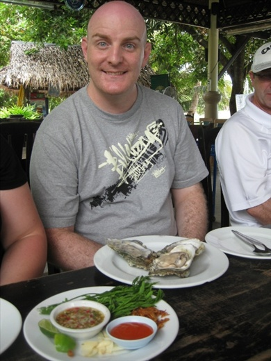At lunch, Gow scoffed oysters the size of terminal loogies