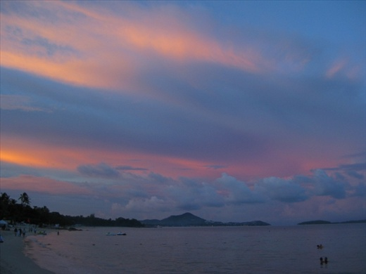 That night, Samui put on the best sunset we were to see for the week