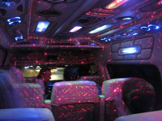 Nature's light show paled into comparison with  our pimping disco on wheels