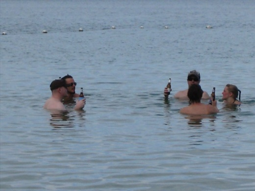 With the water so warm, it was the perfect place for a quiet beer
