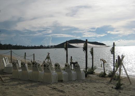 The amazing setting in Ko Samui for Elliot and Mel's wedding.